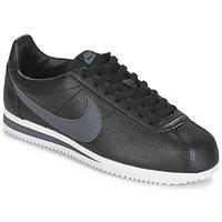 Čevlji  Moški Nizke superge Nike CLASSIC CORTEZ LEATHER Črna / Siva