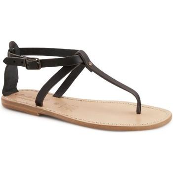 Čevlji  Ženske Sandali & Odprti čevlji Gianluca - L'artigiano Del Cuoio 582 D NERO LGT-CUOIO nero