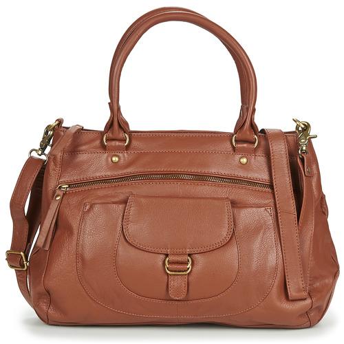 Torbice Ženske Ročne torbice Betty London ETRAME Cognac