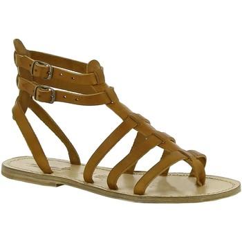 Čevlji  Ženske Sandali & Odprti čevlji Gianluca - L'artigiano Del Cuoio 506 D CUOIO LGT-CUOIO Cuoio
