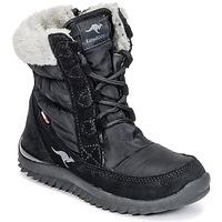 Čevlji  Deklice Škornji za sneg Kangaroos CUPY JUNIOR Črna