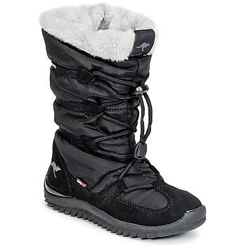 Čevlji  Ženske Škornji za sneg Kangaroos PUFFY III JUNIOR Črna