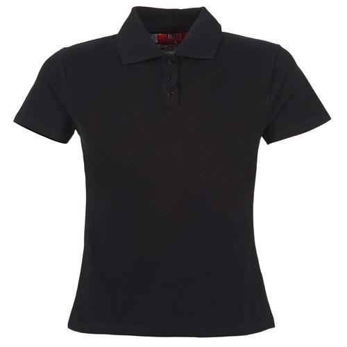 Oblačila Ženske Polo majice kratki rokavi BOTD ECLOVERA Črna