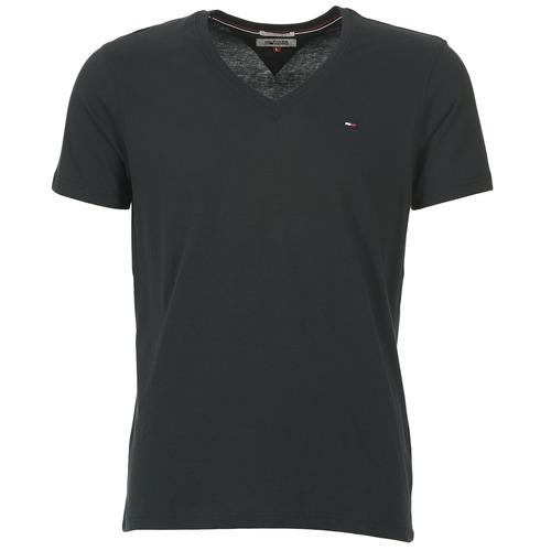 Oblačila Moški Majice s kratkimi rokavi Tommy Jeans MALATO Črna
