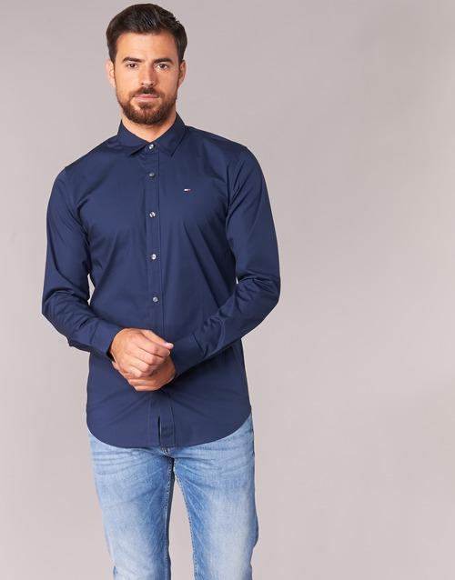 Oblačila Moški Srajce z dolgimi rokavi Tommy Jeans KANTERMI Modra