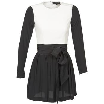 Oblačila Ženske Kratke obleke American Retro STANLEY Črna / Bela