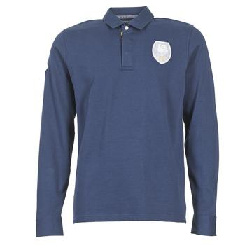 Oblačila Moški Polo majice dolgi rokavi Serge Blanco ECUSSON COQ Modra