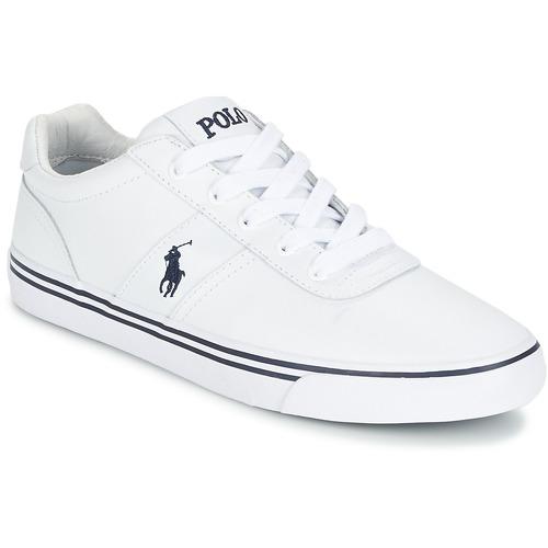 Čevlji  Moški Nizke superge Polo Ralph Lauren HANFORD Bela