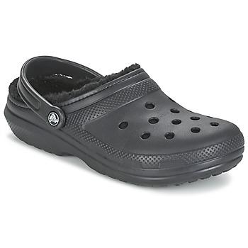 Čevlji  Cokli Crocs CLASSIC LINED CLOG Črna