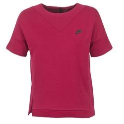 Oblačila Ženske Puloverji Nike TECH FLEECE CREW Bordo