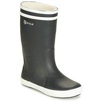 Čevlji  Otroci škornji za dež  Aigle LOLLY POP FUR Črna