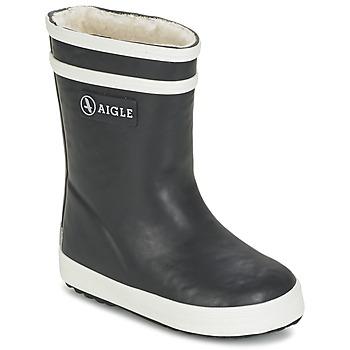 Čevlji  Otroci škornji za dež  Aigle BABY FLAC FUR Črna