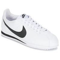 Čevlji  Moški Nizke superge Nike CLASSIC CORTEZ LEATHER Bela / Črna