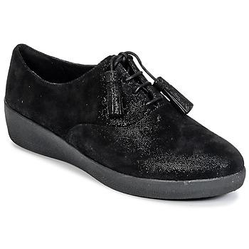 Čevlji  Ženske Čevlji Derby FitFlop CLASSIC TASSEL SUPEROXFORD Črna
