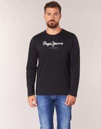 Oblačila Moški Majice z dolgimi rokavi Pepe jeans EGGO LONG Črna