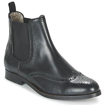 Čevlji  Ženske Polškornji Hudson ASTA CALF Črna