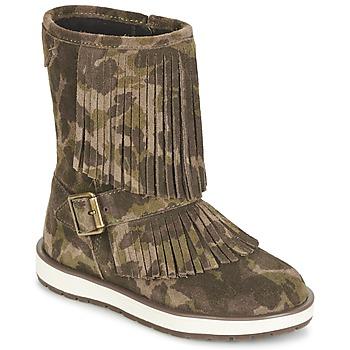 Čevlji  Deklice Polškornji Geox NOHA Zelena
