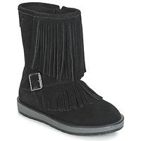 Čevlji  Deklice Mestni škornji    Geox NOHA Črna