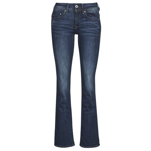 Oblačila Ženske Kavbojke bootcut G-Star Raw MIDGE SADDLE MID BOOTLEG Neutro / Stretch / Denim / Tmavá / Vintage