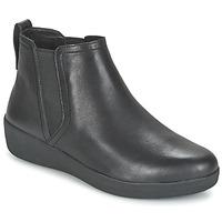 Čevlji  Ženske Polškornji FitFlop SUPERCHELSEA BOOT Črna