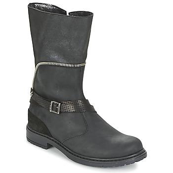 Čevlji  Deklice Mestni škornji    Ikks FLORA Črna