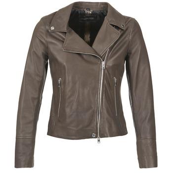 Oblačila Ženske Usnjene jakne & Sintetične jakne Oakwood 62049 Siva / Svetla