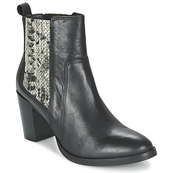 Čevlji  Ženske Gležnjarji Betty London FLARA Črna / Piton