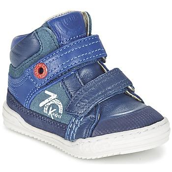 Čevlji  Dečki Visoke superge Kickers JINJINU Modra