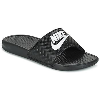 Čevlji  Ženske Natikači Nike BENASSI JUST DO IT W Črna / Bela