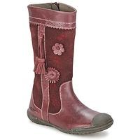 Čevlji  Deklice Mestni škornji    Mod'8 KLAN Bordo