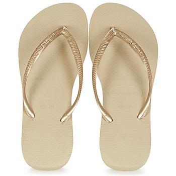 Čevlji  Ženske Japonke Havaianas SLIM Zlata