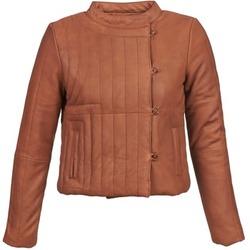 Oblačila Ženske Usnjene jakne & Sintetične jakne Antik Batik YOANN Cognac