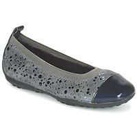 Čevlji  Deklice Balerinke Geox JR PIUMA BALLERINE Siva