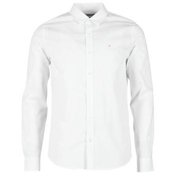 Oblačila Moški Srajce z dolgimi rokavi Calvin Klein Jeans WILBERT Bela