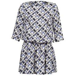 Oblačila Ženske Kratke obleke Manoush MOSAIQUE Siva / Črna / Parme