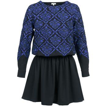 Oblačila Ženske Kratke obleke Manoush GIRANDOLINE Črna / Modra