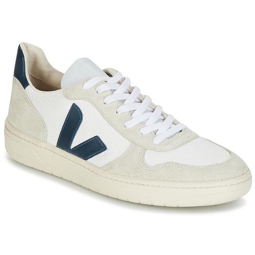 Čevlji  Nizke superge Veja V-10 Bela / Modra