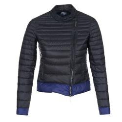 Oblačila Ženske Puhovke Armani jeans BEAUJADO Črna / Modra