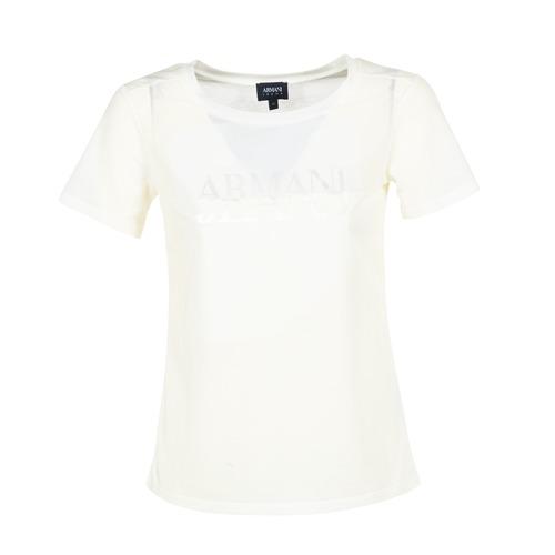 Oblačila Ženske Majice s kratkimi rokavi Armani jeans KAJOLA Bela