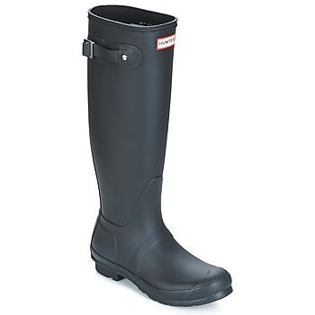 Čevlji  Ženske škornji za dež  Hunter ORIGINAL TALL Črna