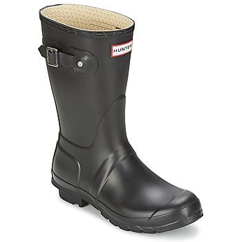 Čevlji  Ženske škornji za dež  Hunter WOMEN'S ORIGINAL SHORT Črna