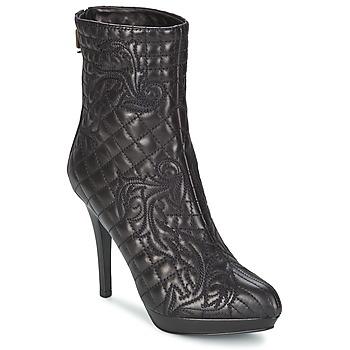 Čevlji  Ženske Gležnjarji Versace MARGHERITA Črna