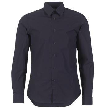 Oblačila Moški Srajce z dolgimi rokavi G-Star Raw CORE SHIRT Modra