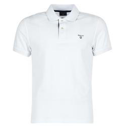 Oblačila Moški Polo majice kratki rokavi Gant CONTRAST COLLAR PIQUE Bela