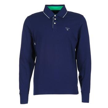 Oblačila Moški Polo majice dolgi rokavi Gant 3-COL CONTAST RUGGER Modra