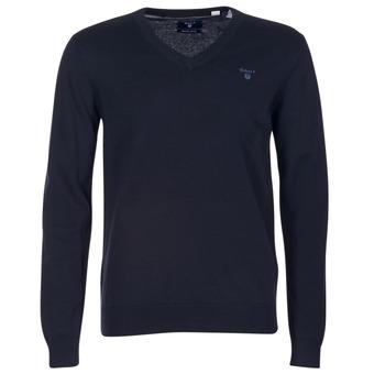 Oblačila Moški Puloverji Gant WEIGHT COTTON V NECK Modra