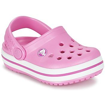 Čevlji  Deklice Cokli Crocs Crocband Clog Kids Różowy