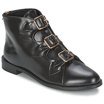 Čevlji  Ženske Gležnjarji F-Troupe Triple Buckle Boot Črna