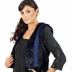 Oblačila Ženske Jakne & Blazerji April First GILET SANS MANCHE Modra