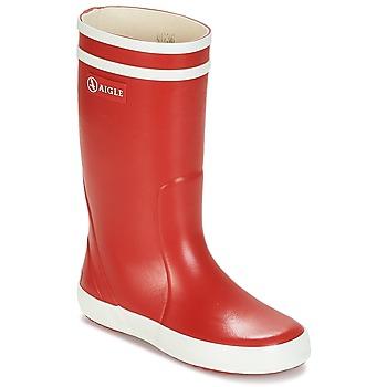 Čevlji  Otroci škornji za dež  Aigle LOLLY POP Rdeča / Bela